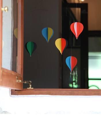 気球の数が5つのものと、少しコンパクトな3つのものと2タイプあります。飾りたい場所に合わせて選べるのが嬉しいですね。