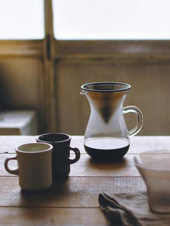 触れるたび、使うたびに心が満たされるコーヒーウェアが側にあれば、いつものコーヒータイムが特別なものになりますよ。