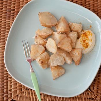 ほくほく美味しい、から揚げにも。ボリュームがあるので、お腹も満足です。