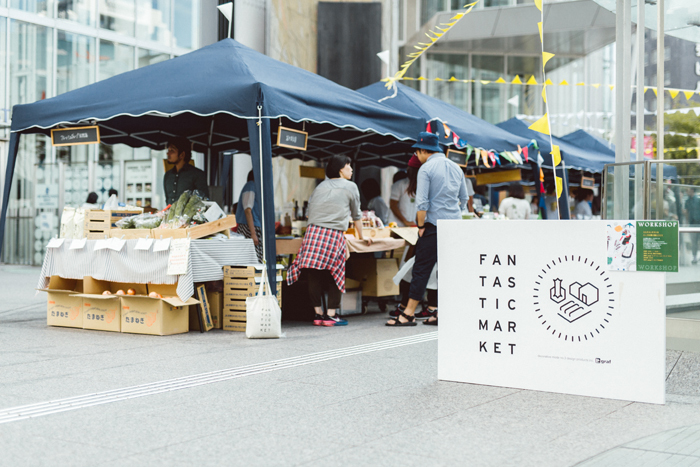 グラフが開催しているファンタスティックマーケットの様子。商品販売のほか、体験型ワークショップなども開かれています 撮影 / Hideaki Hamada