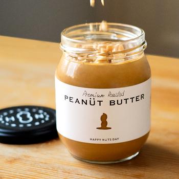 粒ありタイプは焙煎した香ばしいナッツの食感を味わいたい方に。お料理に使ってもGood♪もちろんトーストに塗っても絶品です。