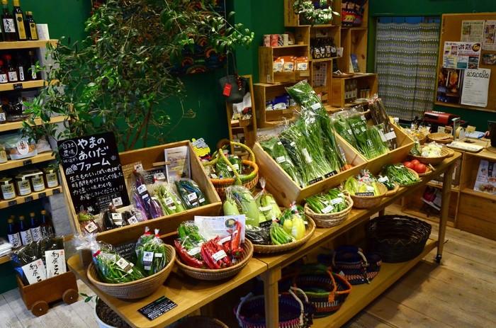 どれも新鮮で元気な野菜たちばかり。力強さが野菜の色や香りに現れているようです。