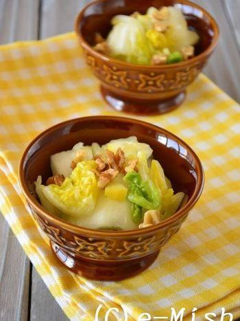サラダ感覚でもりもり食べれるサッパリ味のマリネ。レモンの爽やかさが良いアクセントに!