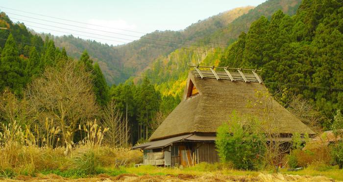 美山町に現存する茅葺屋根の家は、民宿や資料館を除き、一般の人が住む民家です。かやぶきの里を散策していると、伝統を大切にして生活する人々の暮らしを垣間見ることができます。