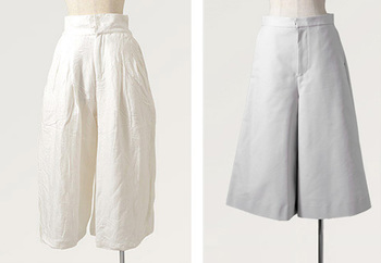 2015年に大流行したガウチョ。でも今年は、そこから更に進化した「スカンツ」「スカーチョ」が流行の予感。  この2つは、   ■「スカンツ」=スカート×パンツ 一見スカートに見える7~10分丈のワイドパンツのこと。  ■「スカーチョ」=スカート×ガウチョ スカートとガウチョを組み合わせた造語です。スカンツと同じく、一見スカートに見えるシルエットが特徴。  この人気急上昇のアイテムでコーディネートを楽しみましょ♪