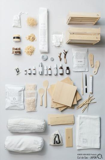 青森ひばから作られる、高機能なアイテムたち。洗礼されたシンプルなデザインも魅力です。