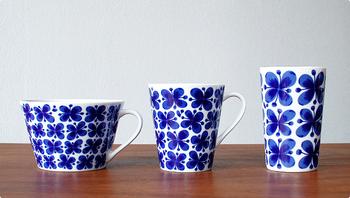ティーカップ・マグカップ(取っ手付き)・マグカップ(取っ手なし)の3種類ある【カップ】。ティーカップは容量たっぷりなので、スープを入れても◎