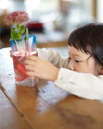 ビニール素材だからモチロン割れません♪小さな子供がいじっても安心。お花を飾るのを諦めていた乳幼児のいるご家庭でも、気兼ねなくお花を生けることができますね。