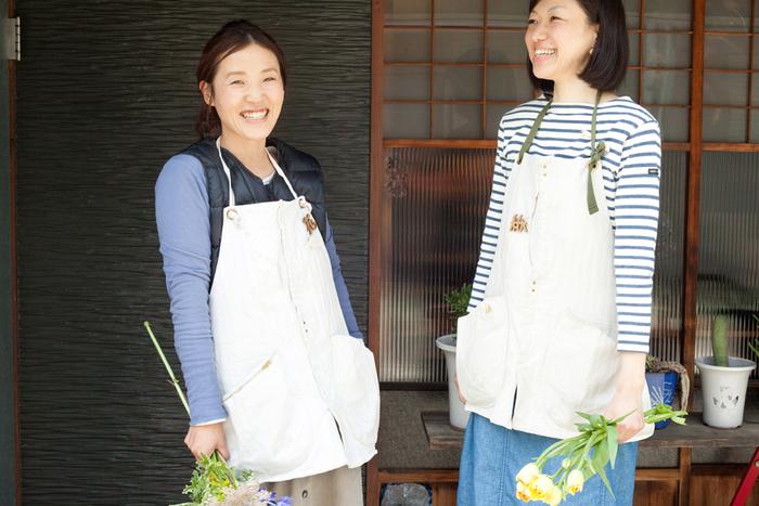 お店の制服にしているエプロンは「suolo(スオーロ)」のもの。こちらも名古屋発のブランドです
