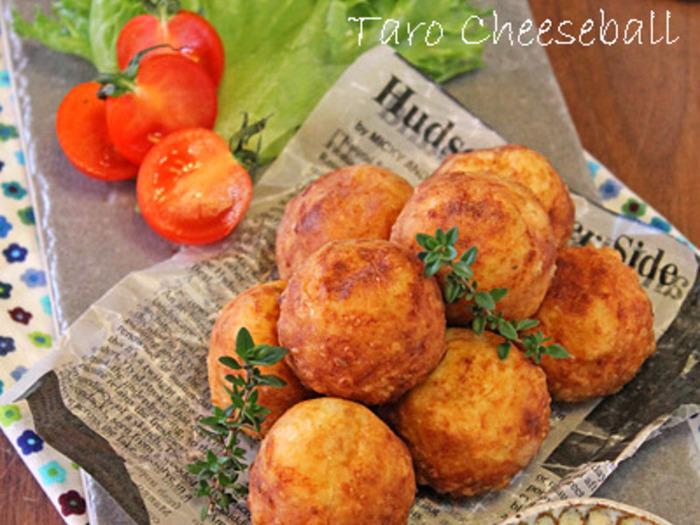 ジャガイモの変わりに里芋を使っているので、モチモチ感アップです。糖質もジャガイモより低いので、ヘルシーですよ。