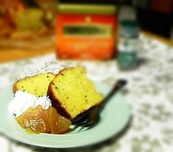 おなじみの焼き菓子、パウンドケーキにミントを小さじ一杯加えたレシピ。それだけでミントがしっかり香る、爽やかパウンドケーキのできあがりです♪