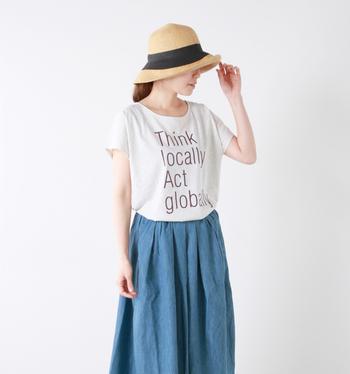 夏小物の代表アイテム!ナチュラル系ファッションと相性が良い「ストローハット」。ワンランク上のお洒落が目指せる福岡発のブランド「abu(アブ)」のストローハットは、程よく個性が光るアイテムなんです。