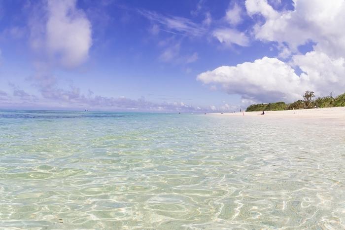 真っ白な砂浜と透明な海が広がる米原ビーチは、石垣島で最も人気のあるビーチです。
