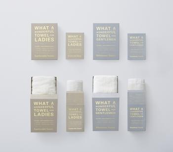 高級綿として知られるスーピマコットンを使用したタオル。タオルに求める心地良さが男女では異なることに着目し、男性用はごしごし拭けてしっかり水分を吸収するボリュームのあるタイプ、女性用は肌に優しく肌に当てるとすっと水分を吸収する柔らかなタイプです。
