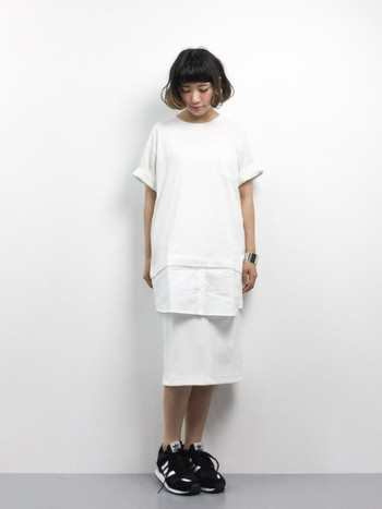 涼やかに品良く。「白×白」のホワイトコーデをスッキリ着こなすポイントレッスン♪
