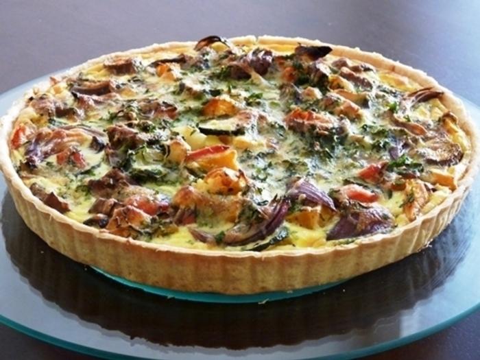 ナス、ズッキーニなどの夏野菜を具に。他にも、秋・冬とそれぞれ旬の野菜でオリジナルレシピを考えてみるのもいいですね。
