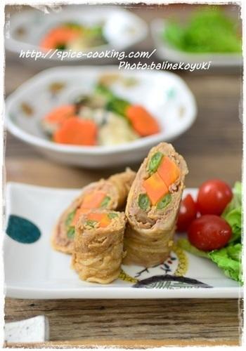 フライパンで作ることが多い肉巻きですが、レンジで簡単に作れます♪ パプリカやアスパラなど他の赤・緑の野菜の彩りで工夫して楽しんでみるのも◎