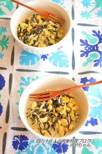 煮物で使われることが多いひじきを新鮮なコールスローサラダに。麺つゆとマヨネーズで簡単に美味しく作れます♪