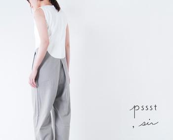 バックスタイルの美しさもオールインワンには必要不可欠!女性が気になるヒップを目立たなくしてくれるデザインが嬉しい。