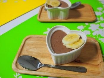 卵や牛乳不使用なのでアレルギーのお子様も食べれます。お豆腐と寒天で作ったチョコレートプリンはヘルシーなのに食べ応えバッチリ♪