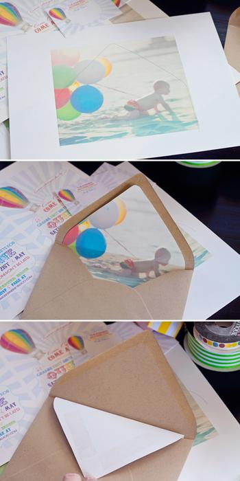 手順は先ほどと同様です。好きな写真をプリントアウトして封筒と組み合わせて下さい。