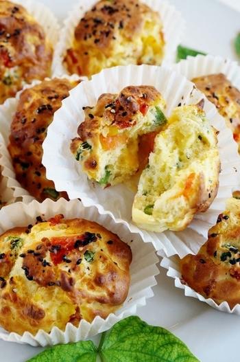 蒸しパンミックスを使って簡単に♪コーンの他にも残り野菜を入れれば栄養面も文句なしの一品になります。