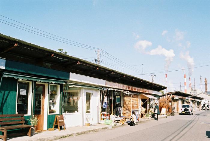 新潟県新潟市中央区、信濃川河口近くに位置する沼垂東3丁目にある商店街「沼垂(ぬったり)テラス商店街」。