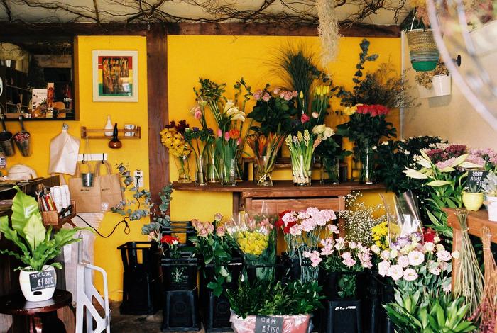 オーナーがレゲエの神様ボブ・マーリーを崇拝しているという「らいおん堂」は、町のお花屋さん。店内の壁やさりげなく飾られたポスターから、レゲエへの愛が伝わってきますね・・・!