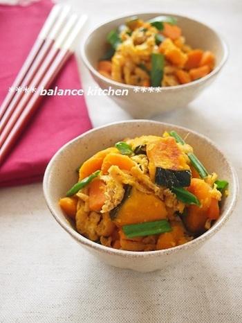 和食ならこちらのレシピがおすすめ。かぼちゃと生姜を使い、さらに温め効果アップ!ささっと作って保存できるので、常備菜として冷蔵庫に置いておきたい料理ですね。
