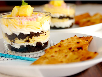 スイーツとの相性もGOOD! アイスやクリームにサクサクの揚げトルティーヤディップして、食べるのもおすすめです。