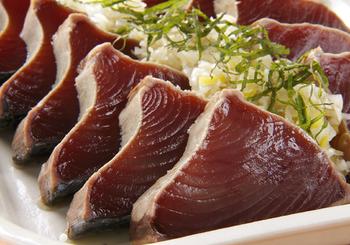 ネギ塩だれは、お肉だけではなく、魚にもよく合うんです。臭みをとってくれるので、美味しくいただけます。
