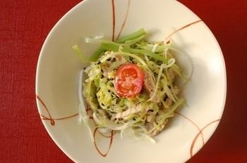 柚子胡椒が癖になる、サラダ感覚で食べられるレシピです。おつまみにも是非。