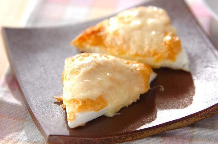 明太子とマヨネーズのソースを塗ってあとはトースターで焼くだけ!簡単で美味しいお弁当のおかずやおつまみにもピッタリです。