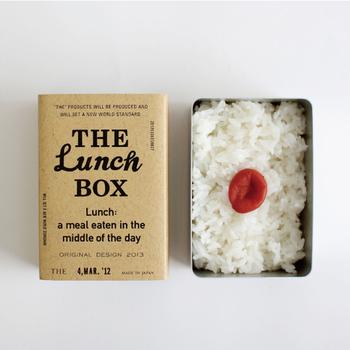 """まず最初に紹介する「THE LUNCH BOX」は、お弁当箱における定番""""THE""""はいったいなんなのか?と考えて作られたアイテム。"""