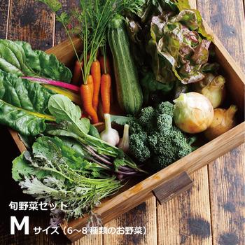 旬野菜セットは1回からでもOK!年数回、お家に届く定期便も選べます。
