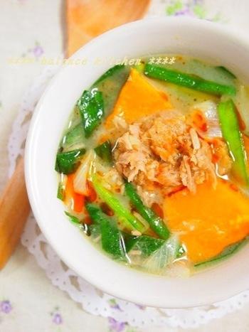 女性に嬉しい抗酸化作用たっぷりの担々スープ。あったかいスープで野菜もしっかりとって体の中から美しく!