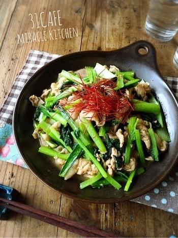 こちらのレシピは、にんにくチューブでOK!ちゃちゃっとできるお役立ちスピードレシピです。油の代わりにマヨネーズを使うことで、コクのあるまろやかな味に。ゴマ油を使って中華風に仕上げても◎