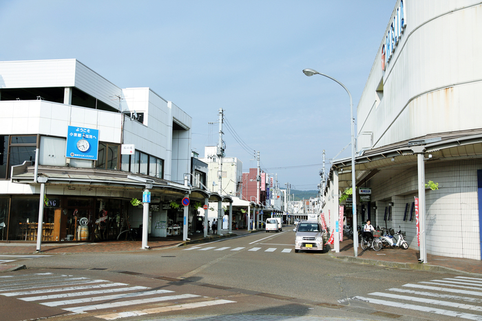 JR東日本信越本線の加茂駅のすぐ目の前にある商店街