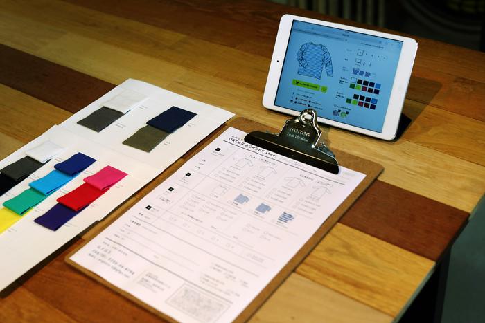 HPからもパターンやカラーのシミュレーションすることができます