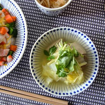 メイン料理には大きめ【ディーププレート】。サラダや果物は【小ボウル】、少し深みのある【麺鉢/大ボウル】は丼ものに。毎日の食卓で使いやすいサイズ展開。