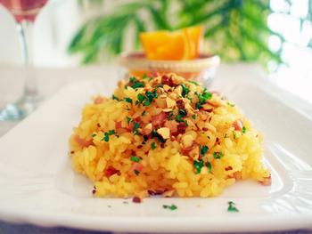 洋風なメインディッシュに白ご飯じゃ味気ないって時にはコレ!お弁当に入れると、蓋を開けた瞬間に爽やかな香りがふわっと香ります。