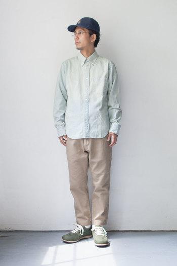 光沢感の無い落ち着いた足元が、大人っぽいコーディネートを作ってくれそう。色々な服装に合わせやすいです。
