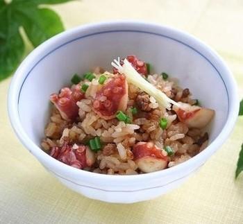 """「たこ飯」といえば瀬戸内海周辺の地域で食べられている郷土料理として有名ですが、こちらは""""麻婆豆腐の素""""を利用した新感覚のたこ飯です!炊飯器にお米とぶつ切りにしたタコ、麻婆豆腐の素を混ぜて炊くだけ♪簡単なのに驚くほど美味しいたこ飯が出来上がります!!"""