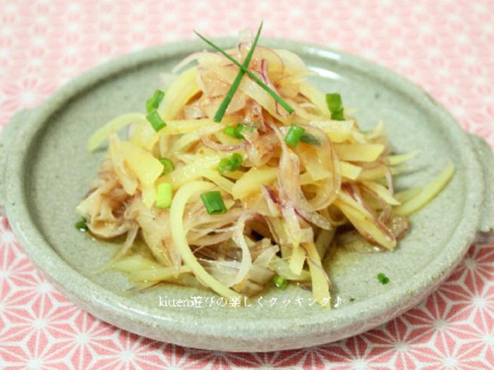 サラダとしてはもちろん、おつまみや箸休めにもピッタリのレシピ。酢玉ねぎを活用しても美味しく食べられそうです。