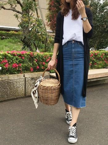 いま改めて注目が集まるトレンドアイテム「デニムスカート」の、素敵なお手本コーディネートをご紹介しました。デニムスカートの様々な着こなし術を身につけて、これからの季節のオシャレをめいっぱい楽しみましょう♪