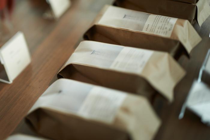 豆を袋詰めして店頭販売する数は少なめ。「今」良いものを決めてすぐお客さんにすぐ提供できるよう、その場で袋詰めをすることが多いのだそう