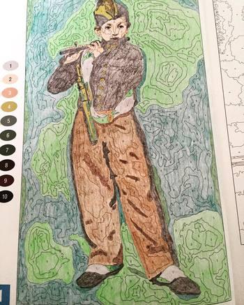 こちらはエドゥアール・マネの「笛を吹く少年」です。誰もが一度は見たことがある名画ですね。