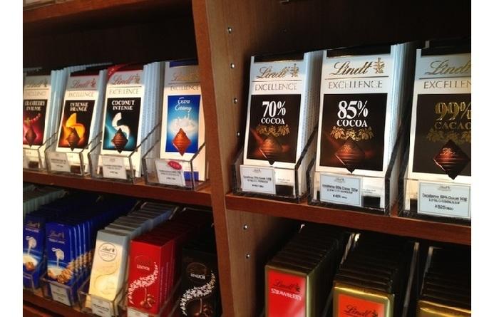 板チョコのラインナップは、直営店ならではの充実ぶり!