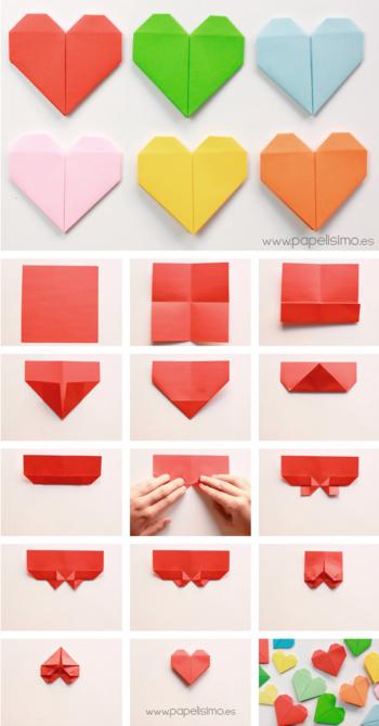 折り紙の 折り紙のハートの折り方 : kinarino.jp
