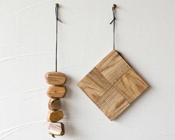 壁に吊るすとこんな感じに♪普段はインテリアとして飾っておけるのが楽しいですね!